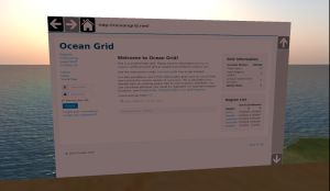 Prototype in-world browser in OpenSim grid